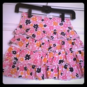 Lands' End floral skirt size 8